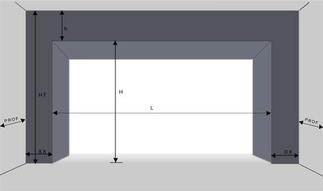Modulo rilievo misure per portone sezionale portoni for Dimensioni del garage di 2 e mezzo