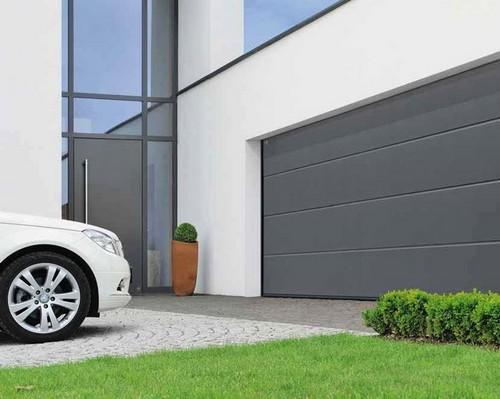 Portone garage sezionale grigio